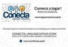 Responder um quiz, somar pontos e melhorar Florianópolis. Esse é o game Conecta, lançado durante o Social Good Brasil. Jogue!  http://apps.facebook.com/gameconecta/