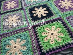 Frozen fan afghan with link to free pattern