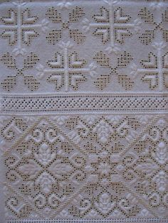 Embroidered Lace Fabric, Cutwork Embroidery, Modern Embroidery, Hand Embroidery Patterns, Cross Stitch Patterns, Drawn Thread, Thread Work, Lace Art, Bargello