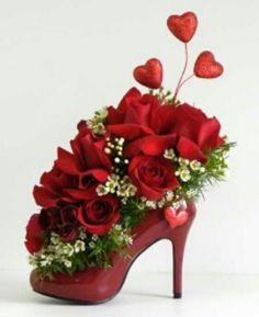 Flowers in a shoe