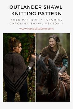 Outlander Carolina Shawl Knitting Pattern. Make a simple knitted shawl inspired by Claire Fraser with this beginner-friendly knitting pattern. Sizing is versatile, as you can easily make this shawl as small or as large as you want! This crossover shawl worn with a belt was inspired by Claire's Carolina shawl in season four of the Outlander series. #knitting #knittingpatterns #outlander #shawl #shawlpattern #clairefraser