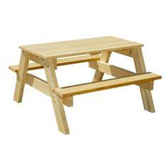 Houseworks, Ltd. 3 ft. Junior Pine Picnic Table-94751 - The Home Depot