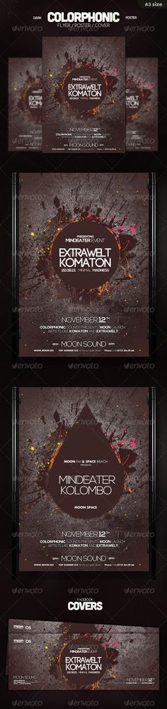 Dark Colorphonic Poster Template PSD | Buy and Download: http://graphicriver.net/item/dark-colorphonic-poster/5832313?ref=ksioks