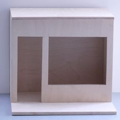 Make a Dollhouse Windowbox Display With a Removeable Lid and Shop Front
