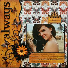 #papercraft #scrapbook #layout    Always - Scrapbook.com