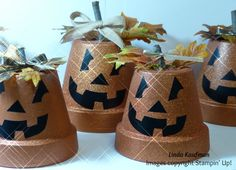 Jack O Lantern Clay Pot