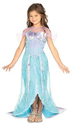 Beautiful Deluxe Blue Mermaid Princess Ariel Dress-up Costume Todd S M, Rubies Princess Fancy Dress Costume, Fancy Dress Costumes Kids, Kids Costumes Girls, Dress Up Costumes, Halloween Fancy Dress, Girl Costumes, Princess Costumes, Costume Ideas, Sea Costume