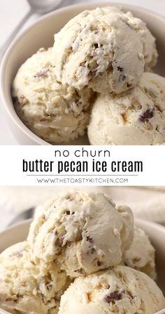 Best Homemade Ice Cream, Easy Ice Cream Recipe, Yummy Ice Cream, Keto Ice Cream, Ice Cream Recipes, Best Butter Pecan Ice Cream Recipe, Frozen Custard Recipes, Sweet Cream Ice Cream, Mini Desserts