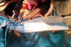 6 passos para aplicar tecido transparente em blusa