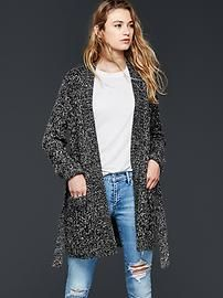 Cable-knit sweater wrap cardigan