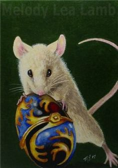 Faberge Egg and Mouse Art  Melody Lea Lamb ACEO by MelodyLeaLamb, $6.25