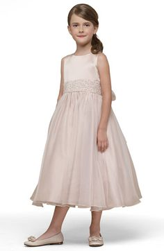 Us+Angels+Beaded+Satin+Sleeveless+Dress+(Toddler,+Little+Girls+&+Big+Girls)+available+at+#Nordstrom