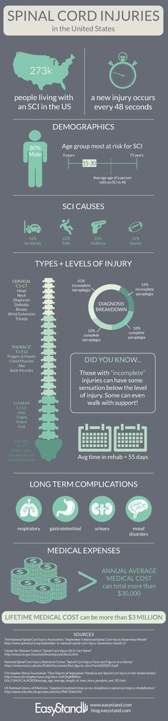 Spinal Cord Injuries in America #SpinalCordInjury  http://blog.easystand.com/2014/09/spinal-cord-injury-awareness-month/