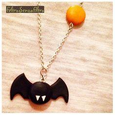 #Polymerclay #Bat #Halloween #Pendant - #Pipistrello #Fimo #Collana