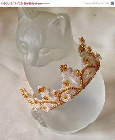 NEW YEAR SALE Crown Mini Crown Princess Crown by bjswearableart