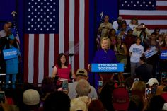 """File: At a campaign event Wednesday, Hillary Clinton pledged to """"build an inclusive economy that welcomes people with disabilities."""" She was speaking at the Frontline Outreach Family and Youth Center in Orlando, Florida, September 21, 2016. Photo by Hallaye Sow/Florida National News"""