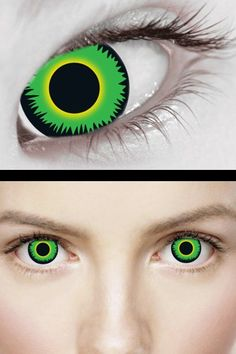 Green WEREWOLF Contact Lenses by XtremeEyez | Gothic