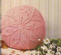 Almofada redonda ou para Crochet Crochet