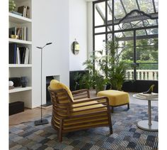 MEMOIRE D'UNE TRAME, Rugs from Designer Constance Frapolli | This contemporary hand-knotted rug pairs subtle shade variations with a repeating house motif for an optical illusion effect. | Ligne Roset Home Accessories and Textiles #LigneRoset #uniquerugs #highendhomedecor #designerrug #handtuftedrugs #modernrugs #contemporaryhomedecor