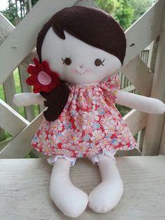 handmade rag doll  www.facebook.com/dandelionwishesbymimi  www.dandelionwishesmimi.etsy.com