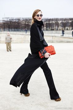 Red Bag & Leopard Shoes