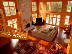 Love the light from the huge windows.