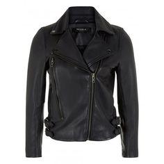 Worth Black Leather Biker Jacket www.muubaa.com #Muubaa #AW15