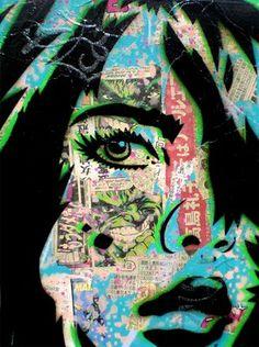 Paper Monster stencil graffiti artist