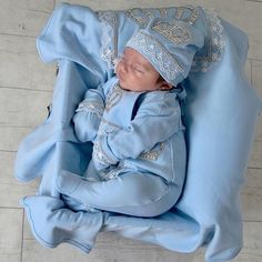 Blue Prince 10-piece Newborn Set on Prince Bryan! We  our #ittybittytoes babies  SHOP: ittybittytoes.com (search Newborn)  OR Click the link in our bio