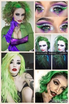 Female Joker. Halloween Makeup Ideas. Save money on costumes by just getting creative with makeup and hair.  -Erica Marie