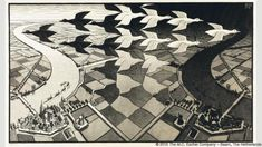 Day and Night (Credit: Credit: 2015 The M.C. Escher Company – Baarn, The Netherlands)