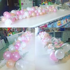 Who has seen these gorgeous organic balloon table runners? Here's one we made! How beautiful would this look on a bridal table? #organic #balloons #pastels #bridalshower #wedding #balloonsperth #perthballoons #perth