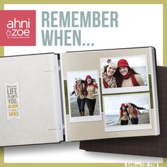 """""""Remember when…"""" stories are even better (or in some cases, more embarrassing) when you've got visual proof. Keep your favorite snapshots safe until the time is right with Ahni & Zoe. http://shout.lt/js1s"""