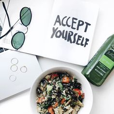 Accept yourself & eat your greens. The only life advice you'll ever need