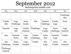 Since my August monthly workout was such a hit, I made another one for September! Like last time, the way it works is simple: look at what's listed for the current date, pick a workout from the...