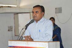 Shri R. R. Vyas, R.O. GPCB Bhavnagar address at World Earth Day 2015 Celebration by KRCSC