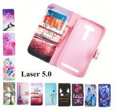 패션 지갑 전화 커버 장미 꽃 타워 패턴 커버 플립 ASUS Zenfone 2 레이저 5.0 인치 ZE500KL/ZE500KG