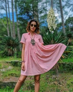 Like a pink rose in the hills 🌹 Wearing the roomiest dress by @pippal.conscious dress today in Ranikhet.