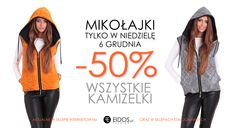 MIKOŁAJKI -50% #kamizelki w sklepie eidos.pl