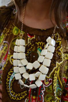 Use ZZS11 at checkout for FREE SHIPPING!! www.zigzagstripe.com Ivory Sassy Necklace – The ZigZag Stripe
