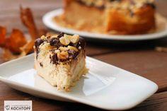 Cheesecake mit selbstgemachter Erdnussbutter und Schokoladen-Erdnuss-Topping