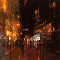 Jeremy Mann, SF Night in Red @artsy