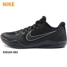04b5e93b5b03 NIKE KOBE XI 11 EM LOW TRIPLE BLACK DARK KNIGHT COOL GREY 836184 001   sneakerfiend