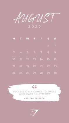 30 Beautiful Printable August 2020 Calendars for Free - Onedesblog