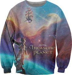 Treasure Planet sweater - this is so epic Disney Tops, Disney Shirts, Disney Movies To Watch, Treasure Planet, Disney Inspired Fashion, Disney Nerd, Casual Cosplay, Kinds Of Clothes, Character Outfits