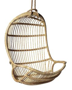 Hanging Rattan Chair from Serena and Lily