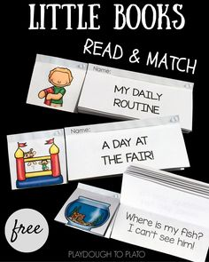 FREE little books for some fun reading comprehension practice! These would be great to use in guided reading, literacy centers or as a kindergarten or first grade reading activity.