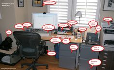 Getting Things Done's David Allen's Workspace