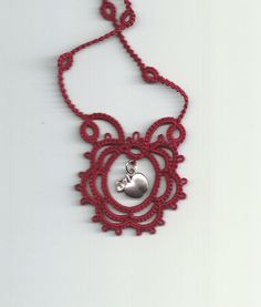 Cameo  Tatted Lace Necklace