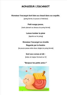Monsieur l'escargot chez Kaloo: tribune libre - école petite section Activities For Kids, Crafts For Kids, French Songs, Songs To Sing, Nursery Rhymes, Recherche Google, Homeschool, Teaching, Education
